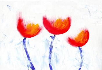Flower painting art illustration