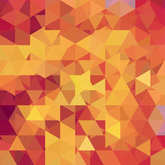 Geometric pattern, triangles vector background in yellow, orange ' tones. Illustration pattern