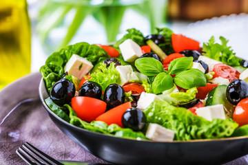 Bunter frischer salat( griechischer art )