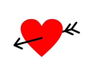 Heart with an arrow vector