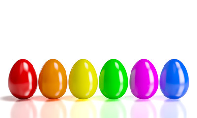 colorful 3d eggs