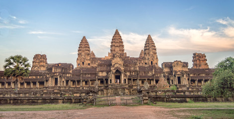 Back entry of Angkor Wat temple, Siem Rep, Cambodia