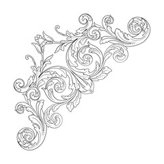 Vector baroque ornament in victorian style