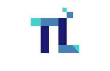 TL Digital Ribbon Letter Logo