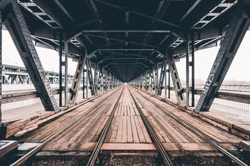 Urban bridge under the river