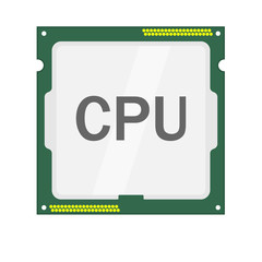 CPU logo vector icon illustration flat design