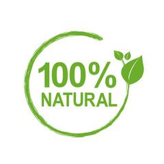 100% Natural Logo Symbol
