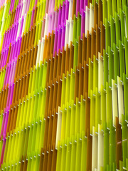 acrylic plastic sheet interior vertical, color pink brown yellow