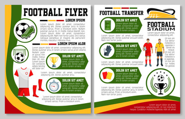 Vector flyer for football or soccer sport match