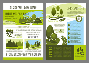 Vector brochure of landscape design build