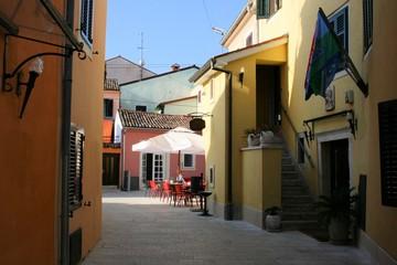 view in a street in Fazana, Croatia