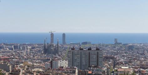 Barcelona skyline panorama, Catalonia, Spain