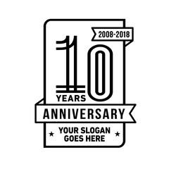 10th anniversary logo. Vector and illustration.