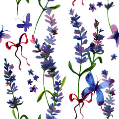hand drawn lavender flower