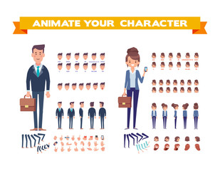 character, animation, adult, body, cartoon, constructor, elements, man, vector, woman, animation character, animation characters, animation frames, arm, body parts, boss, business man, business partne