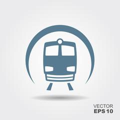 Metro icon flat.