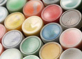 Set of color paints