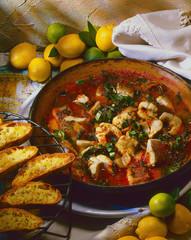 Aal in Tomaten-Mangold-Sugo.Umbrien.Italien