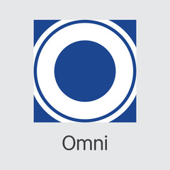 Omni Cryptocurrency - Vector Colored Logo.