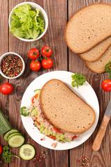 sandwich with tuna fish and avocado