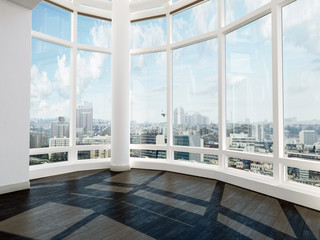 Bare unfurnished room with spectacular view