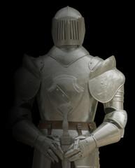 armure de chevalier, fond noir