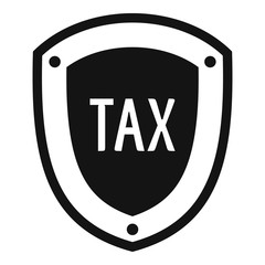 Tax protection icon. Simple illustration of tax protection vector icon for web