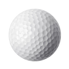 Foto op Aluminium Golf Golf ball isolated on white background