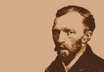 Van Gogh - peintre - portrait - personnage célèbre - Vincent Van Gogh - artiste peintre -