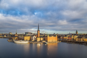 Stockholm skyline at sunrise, Sweden