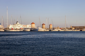 Access to Port of Rhodes, Greece