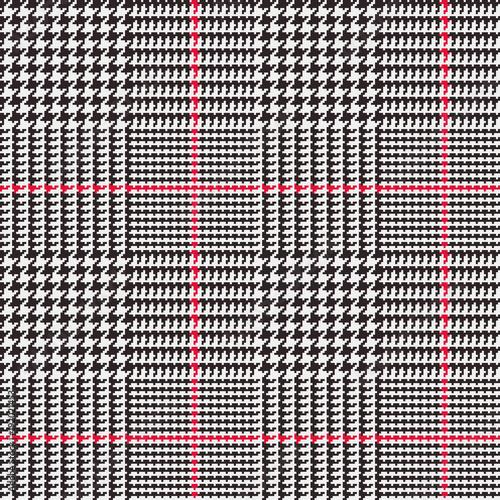 Glen Plaid Vector Pattern in Black, White and Red Overcheck Stripes on treasury check, bank of america check, anatomy of check, suntrust check, starter check,