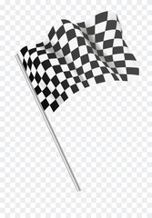 Stores à enrouleur F1 Chequered flag flying. Vector illustration.