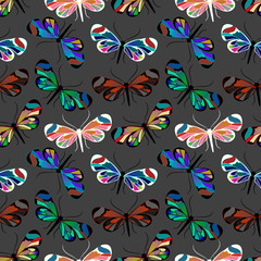 seamless pattern with butterfly Greta Oto