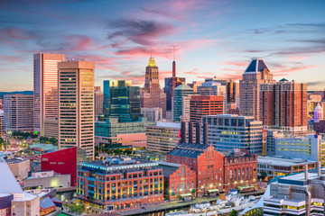 Fototapete - Baltimore, Maryland, USA Skyline
