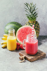 Watermelon and pineapple smoothie