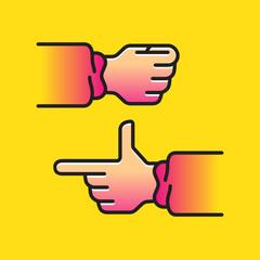 Stock Illustration Hand, hand pistol, fist