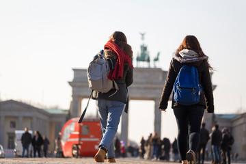 people at brandenburg gate berlin germany
