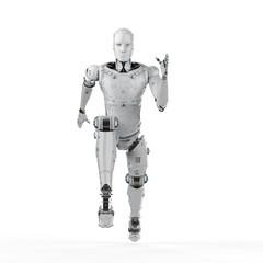 robot jumping or running