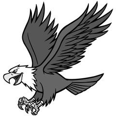 Eagle Mascot Illustration - A vector cartoon illustration of a Eagle Mascot.