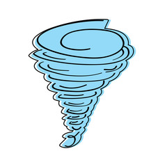 tornado season wind storm weather image vector illustration
