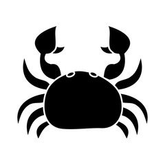 sea wild life crab marine animal image vector illustration black and white design