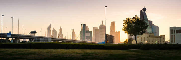 Dubai new city panoramic view