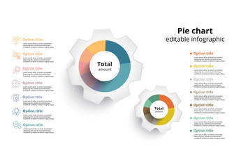 Colorful  Pie Chart  Infographic 2