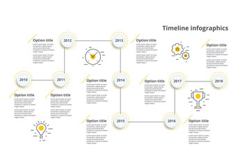 Colorful Zigzag Timeline Infographic Layout