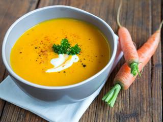 Vegetarische Karottensuppe