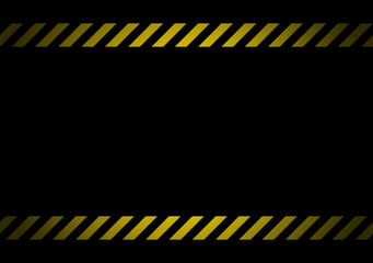 On the black background, two warning lines of protection. Shadow around the edges.