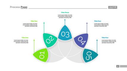 Petal Diagram with Five Elements Template