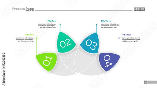 Petal Diagram with Four Elements Template\