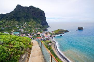 Porto da Cruz on Madeira island, Portugal